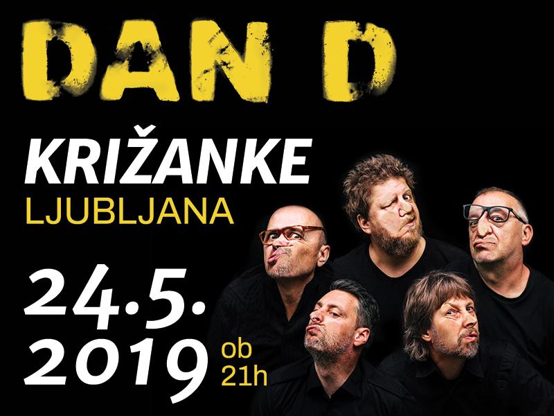 Dan D po 10 letih ponovno v Križankah - 24. maj 2019 ob 21.00 - največje uspešnice, Tiho in novi album Knjiga pohval in pritožb
